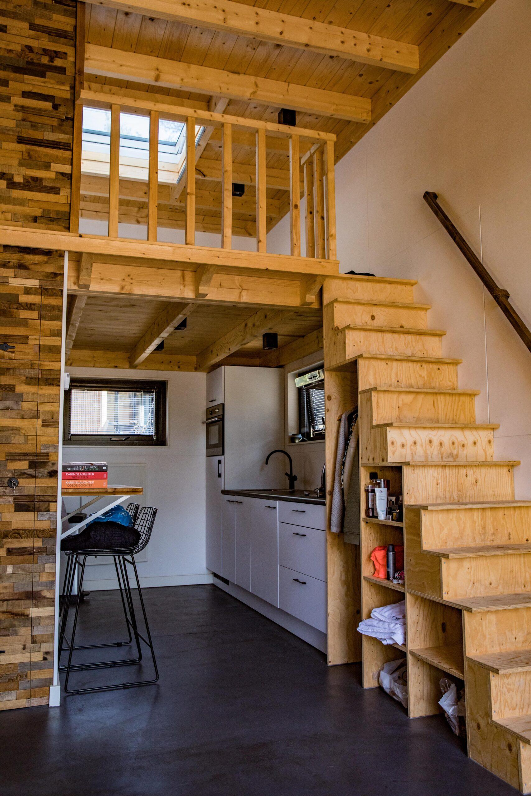 Tiny house Vlaanderen interieur